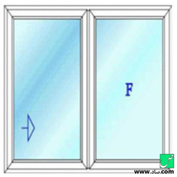 پنجره دوجداره upvc مدل 10