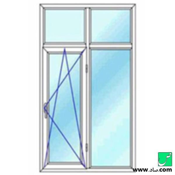 پنجره دوجداره upvc مدل 12