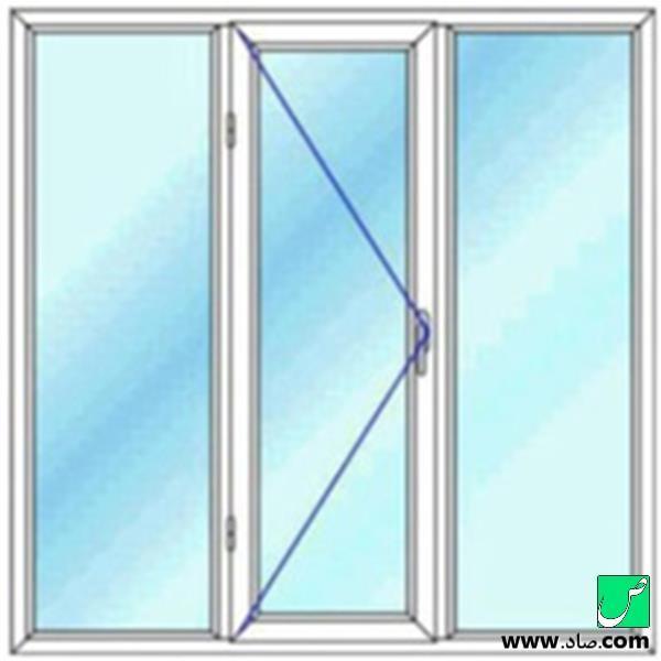 پنجره دوجداره upvc مدل 13