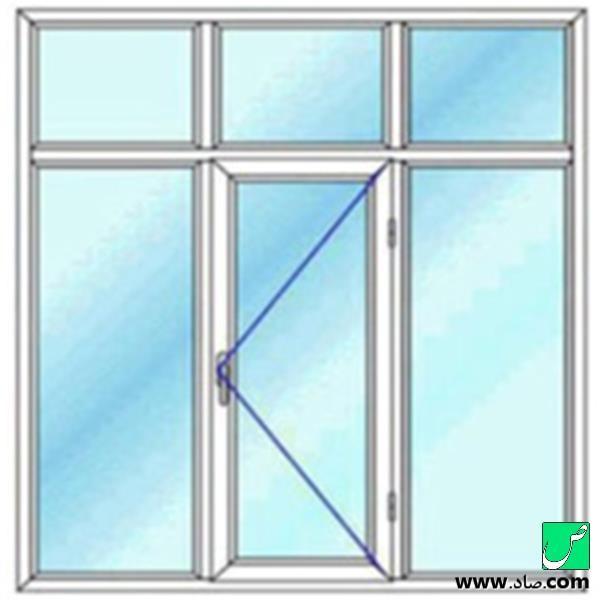 پنجره دوجداره upvc مدل 14