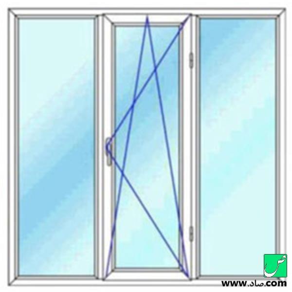 پنجره دوجداره upvc مدل 15