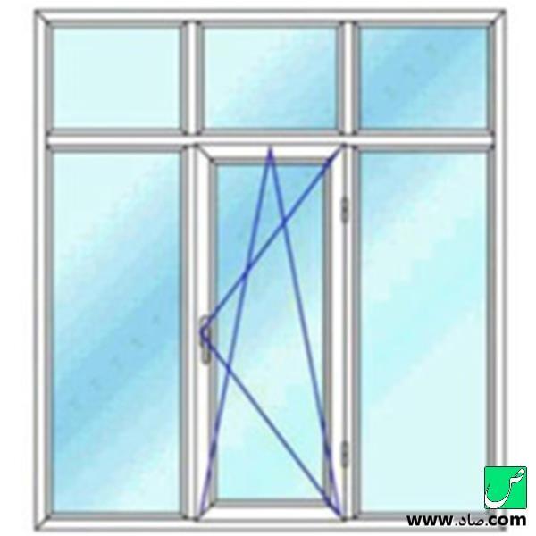 پنجره دوجداره upvc مدل 16