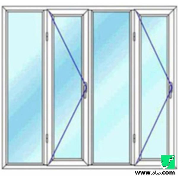 پنجره دوجداره upvc مدل 18
