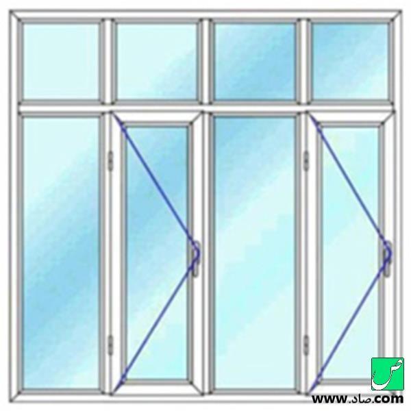 پنجره دوجداره upvc مدل 19