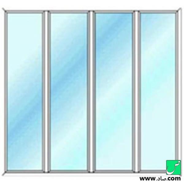پنجره دوجداره upvc مدل 2