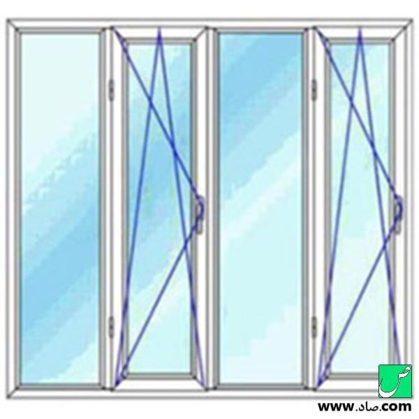 پنجره دوجداره upvc مدل 20