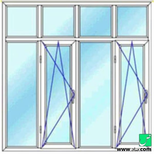 پنجره دوجداره upvc مدل 21