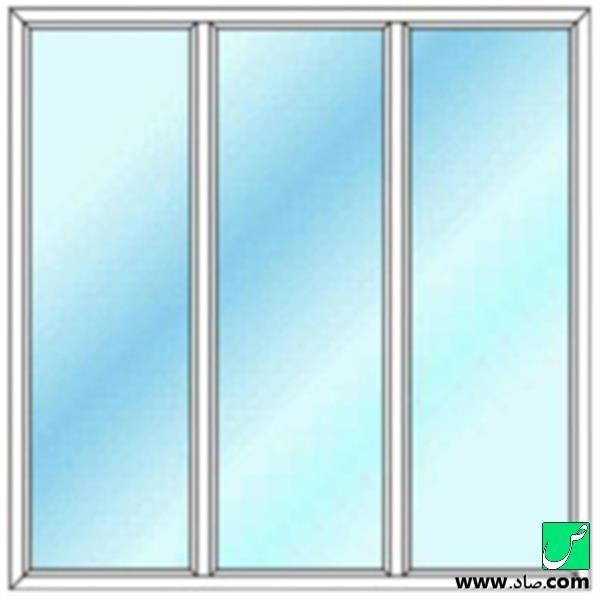 پنجره دوجداره upvc مدل 3