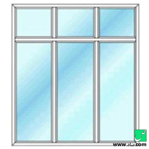 پنجره دوجداره upvc مدل 5