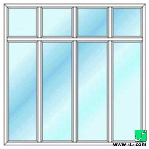 پنجره دوجداره upvc مدل 6