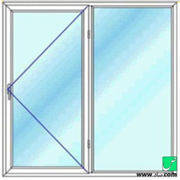 پنجره دوجداره upvc مدل 7