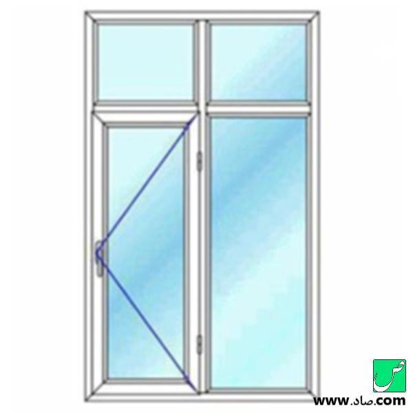 پنجره دوجداره upvc مدل 8