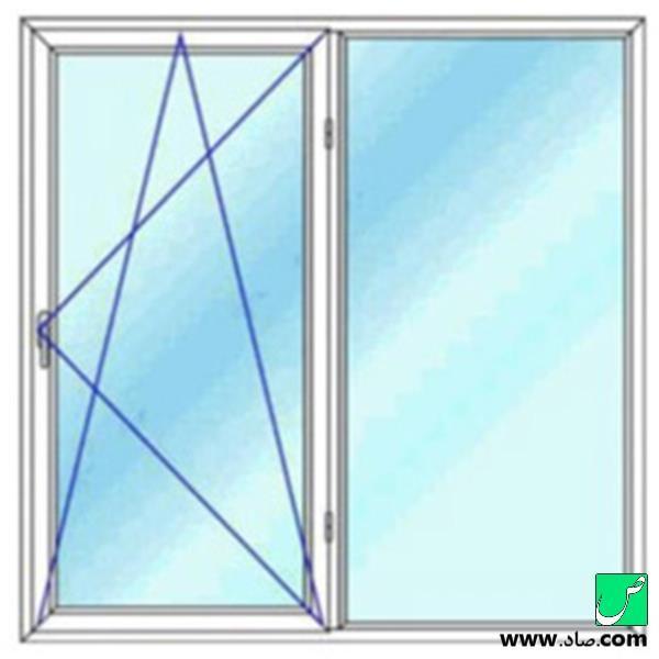 پنجره دوجداره upvc مدل 9